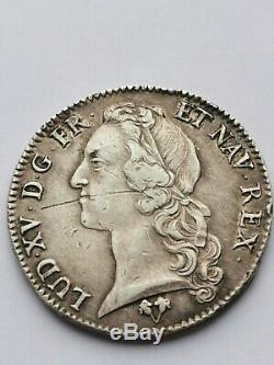 Très rare écu au bandeau argent Louis XV 1746 G