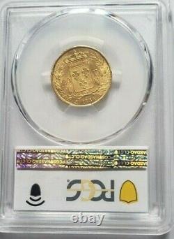 Très rare et splendide pièce de 20 francs or 1824 A Louis XVIII PCGS MS63
