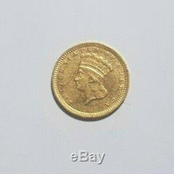 Très rare et superbe pièce de 1 dollar or 1857 Charlotte