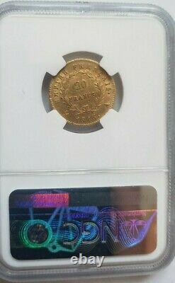 Très rare et superbe pièce de 20 francs or 1815 A Napoleon I NGC AU55 Cent Jours