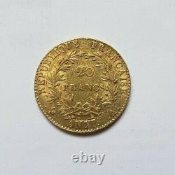 Très rare et superbe pièce de 20 francs or An XI A Napoleon