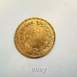 Très rare et très belle pièce 20 francs or 1830 A Louis Philippe tranche creux