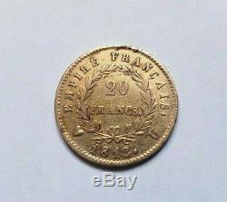 Très rare et très belle pièce de 20 francs 1812 U Napoleon I Turin