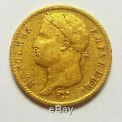 Très rare et très belle pièce de 20 francs 1813 Rome Napoleon I