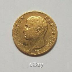 Très rare et très belle pièce de 20 francs or 1806 Q Napoleon I