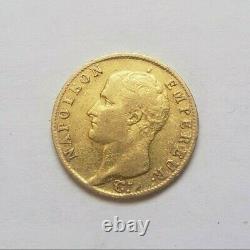 Très rare et très belle pièce de 20 francs or 1806 W Napoleon I