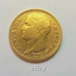 Très rare et très belle pièce de 20 francs or 1807 W Napoleon I