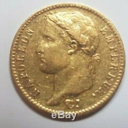 Très rare et très belle pièce de 20 francs or 1813 Rome Napoleon I