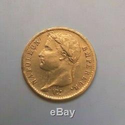 Très rare et très belle pièce de 20 francs or 1814 W Napoleon I