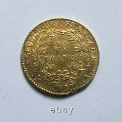 Très rare et très belle pièce de 20 francs or An XI A Napoleon I