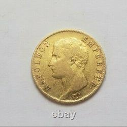 Très rare et très belle pièce de 20 francs or an 14 A Napoleon Empereur