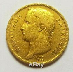 Très rare et très belle pièce de 40 francs or 1809 M Toulouse Napoleon I