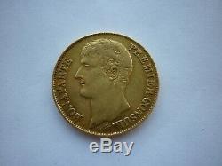 Tres rare france 40 francs or an 12 A grenetis serre avers et revers 150\150