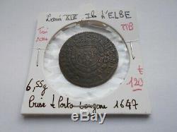 Très rare jeton Louis XIV, Ile d'Elbe 1647