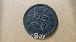 Très rare jeton de cantine DAF nazi allemand WW2 deutsche token