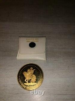 Très rare médaille or 16 grammes expo 58