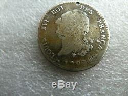 Trés rare monnaie de 30 sols TYPE FRANÇAIS LOUIS XVI 1792 BB
