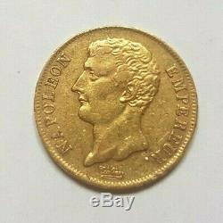Très rare variété de la 20 francs or an 12 A Empereur sans point après française