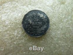 Très très rare quart de franc Louis Philippe 1834 D