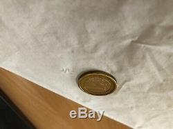Une pièce de 1 euro très rare avec un défaut de fabrication qui date de 2001