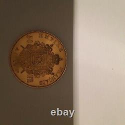Vous propose cette superbe 50 Francs Napoléon III 1855 A en OR très Rare