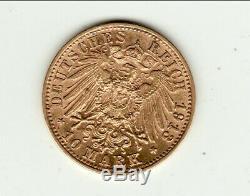 WURTTEMBERG TRES RARE 10 MARK 1913 brillant de frappe RARE RARE
