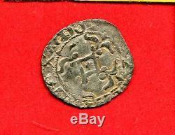 (f. 3) Bretagne Jean IV Double Denier A L'hermine (vannes) Très Rare