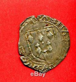 (f. 57) Anne De Bretagne Gros A L'ecu (rennes) 1488-1491 Très Rare (tb+)