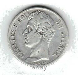 (n°41) Charles X 2 Francs 1827 Q (perpignan) 14314 Ex Tres Rare (ttb-)